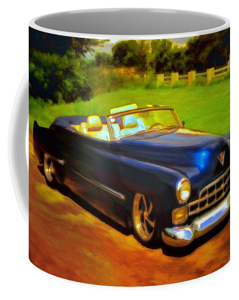 Cadillac Coffee Mug featuring the painting Badass Cad by Michael Pickett