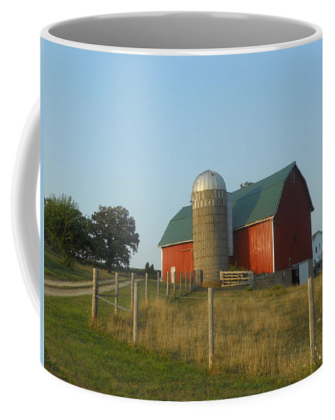 Barns Coffee Mug featuring the photograph Badgers Red by Coleen Harty
