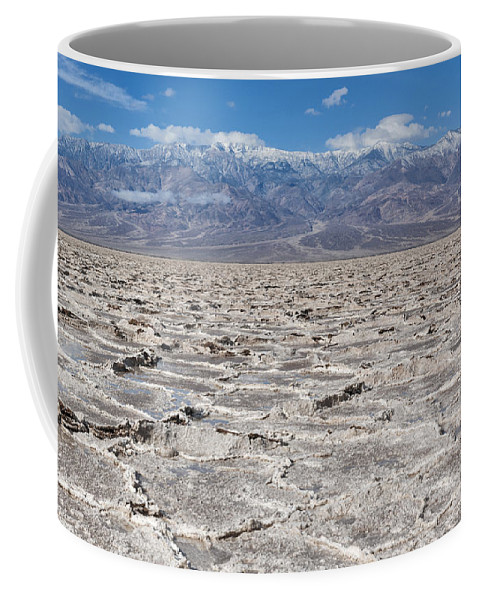 Death Valley Coffee Mug featuring the photograph Badwater Basin - Death Valley by Sandra Bronstein