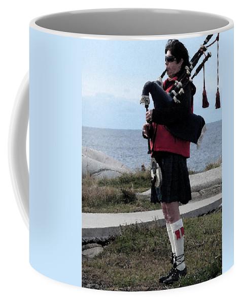 Bag Piper Coffee Mug featuring the photograph Bag Piper by Nicki Bennett