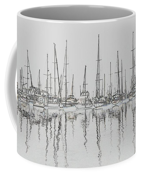 Seascape Coffee Mug featuring the photograph Balance And Perspective by Laura Ragland