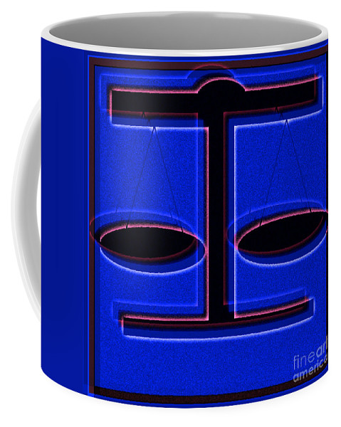 Abstract Coffee Mug featuring the digital art Balancing Act by Candice Danielle Hughes