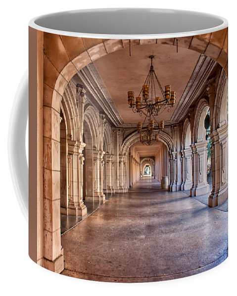 Architecture Coffee Mug featuring the photograph Balboa Park Arches by Lauri Novak