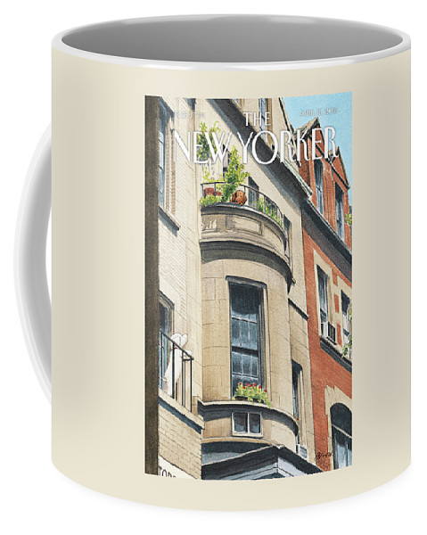 Dog Coffee Mug featuring the painting Balcony Scene by Harry Bliss