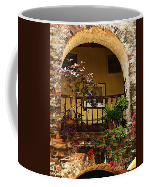 St Lucia Coffee Mug featuring the photograph Balcony St Lucia by Tom Prendergast