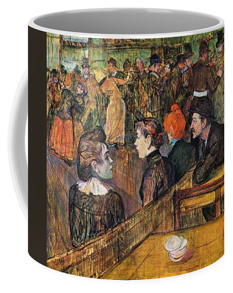 1889 Coffee Mug featuring the painting Ball At The Moulin De La Galette by Toulouse-Lautrec