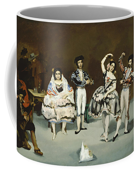 Edouard Manet Coffee Mug featuring the painting Ballet Espagnol by Celestial Images