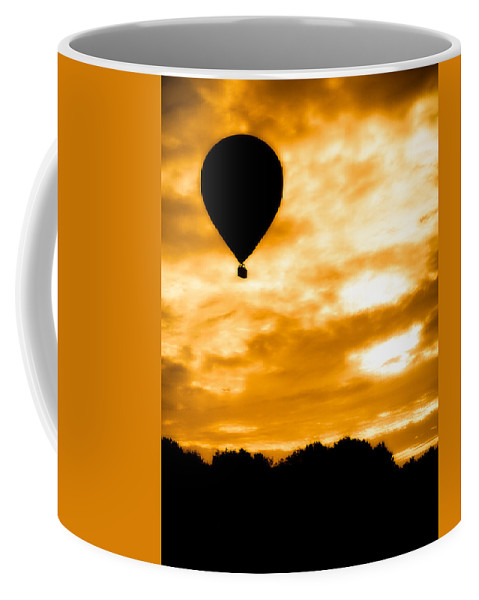 Ascend Coffee Mug featuring the photograph Balloon Rise by Mark Llewellyn