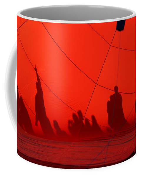 Balloon Shadows Coffee Mug featuring the photograph Balloon Shadows by Ernie Echols
