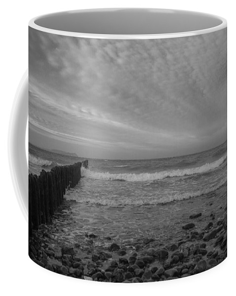 Island Of Ruegen Coffee Mug featuring the photograph Baltic Sea And Clouds by Ralf Kaiser