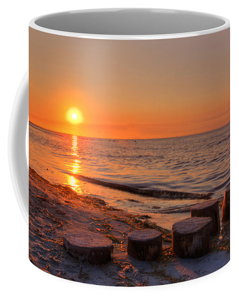 Ostsee Coffee Mug featuring the pyrography Baltic Sun by Steffen Gierok