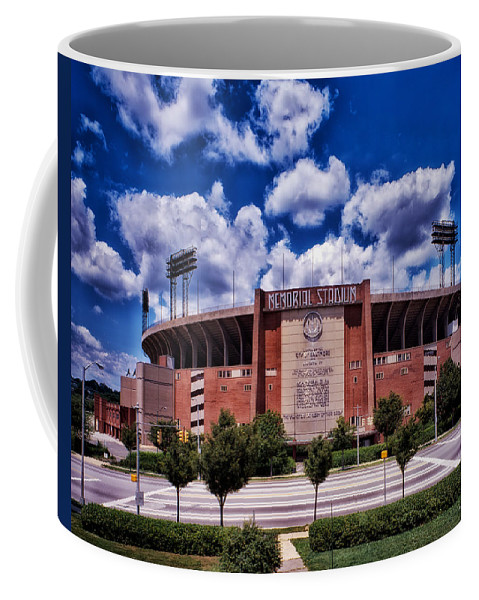 Baltimore Coffee Mug featuring the photograph Baltimore Memorial Stadium 1960s by Mountain Dreams