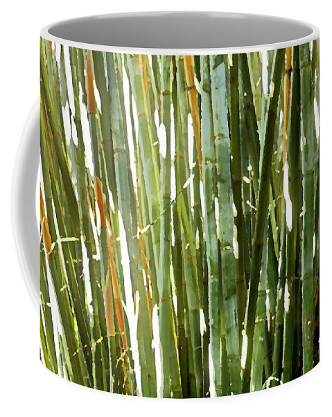 Bamboo Coffee Mug featuring the photograph Bamboo Abstract by Rich Franco