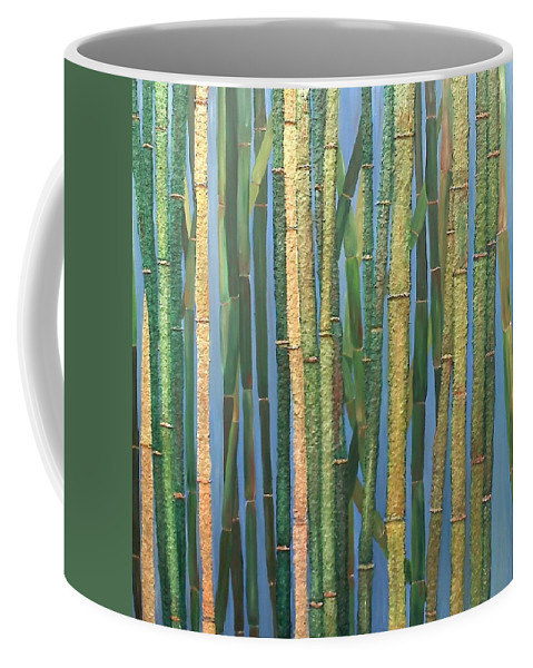 Bamboo Coffee Mug featuring the painting Bamboo by Leslye Miller