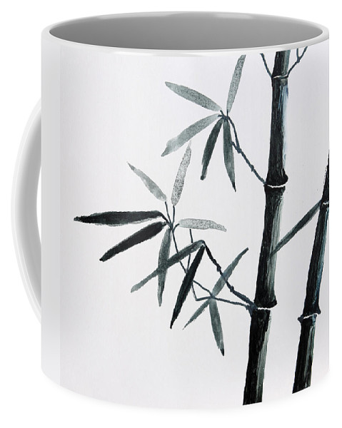 Art Coffee Mug featuring the painting Bamboo Tree by Nirdesha Munasinghe