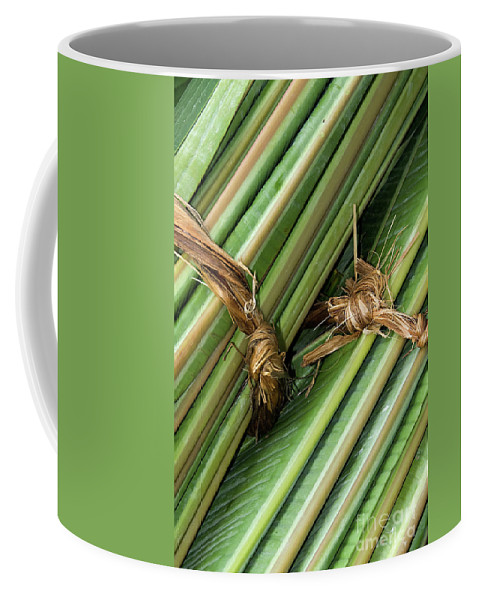 Roll Coffee Mug featuring the photograph Banana Leaves by Rick Piper Photography