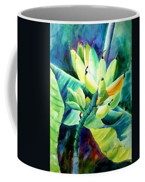 Watercolor Coffee Mug featuring the painting Bananas 6-12-06 Julianne Felton by Julianne Felton