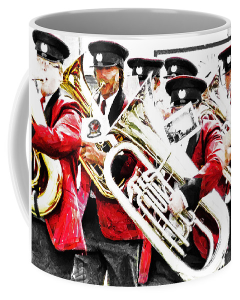 Band Coffee Mug featuring the photograph Band On The Run by Steve Taylor
