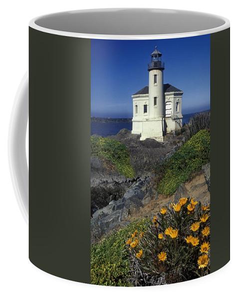 Bandon Beach Coffee Mug featuring the photograph Bandon Lighthouse by Dave Mills