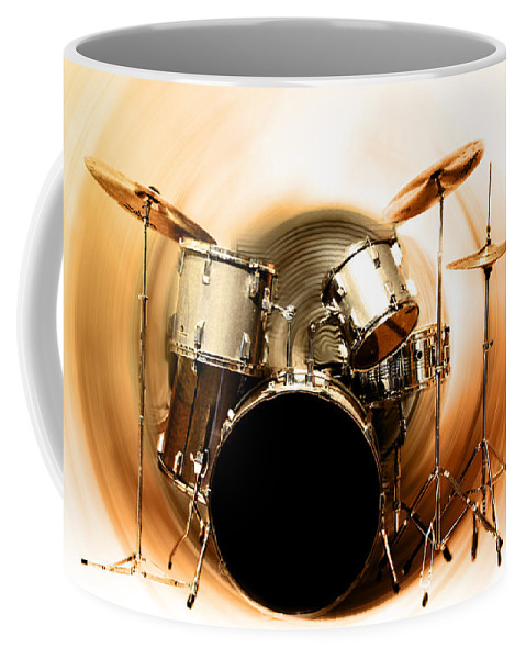 Bang Coffee Mug featuring the photograph Bang On The Drum All Day by Bill Cannon