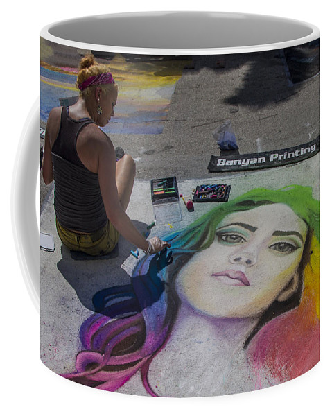 Festival Coffee Mug featuring the photograph Banyon Printing by Debra and Dave Vanderlaan