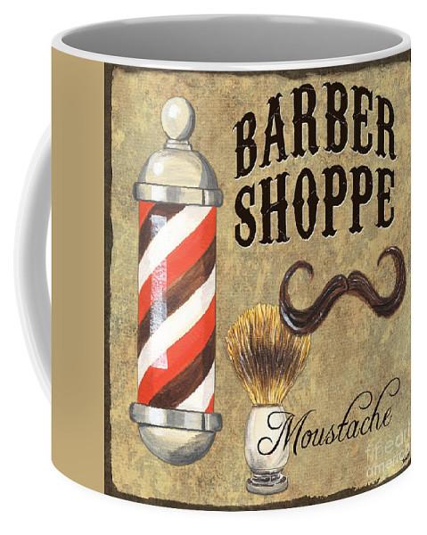 Fashion Coffee Mug featuring the painting Barber Shoppe 1 by Debbie DeWitt