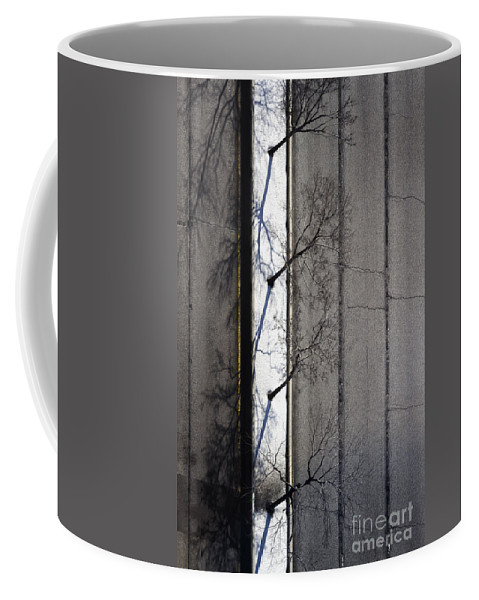Road Coffee Mug featuring the photograph Bare Trees by Margie Hurwich