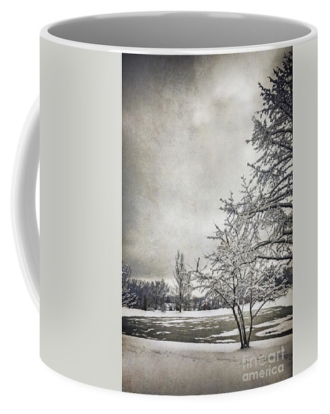 Trees Coffee Mug featuring the photograph Barely Frozen by Margie Hurwich