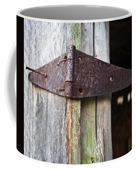 Hinge Coffee Mug featuring the photograph Barn Hinge 1 by Douglas Barnett