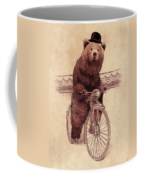 Bear Coffee Mug featuring the drawing Barnabus by Eric Fan