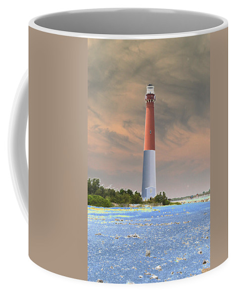 Lighthouse Coffee Mug featuring the photograph Barnegat Abstract by Christiane Schulze Art And Photography