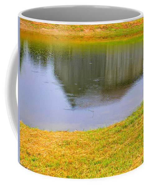 Barn Coffee Mug featuring the photograph Barnflection by Nick Kirby