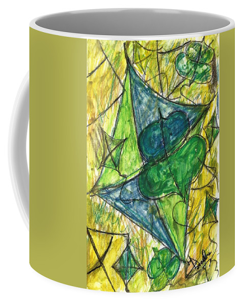 Painting Coffee Mug featuring the painting Basant I by Fareeha Khawaja
