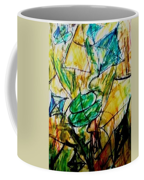Painting Coffee Mug featuring the painting Basant II by Fareeha Khawaja