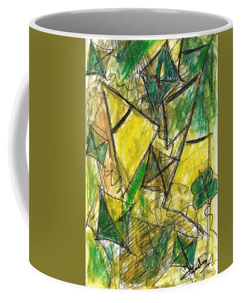 Painting Coffee Mug featuring the painting Basant - Series by Fareeha Khawaja