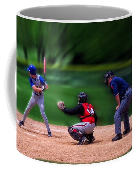 Sports Coffee Mug featuring the photograph Baseball Batter Up by Thomas Woolworth