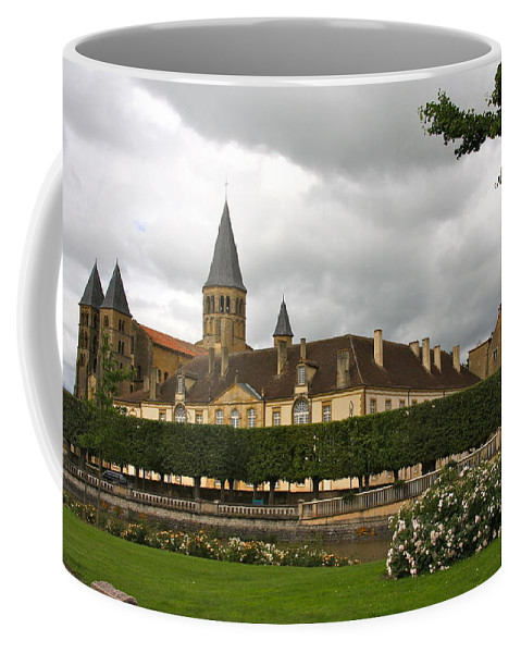 Basilica Coffee Mug featuring the photograph Basilica Of Paray-le-monial by Christiane Schulze Art And Photography