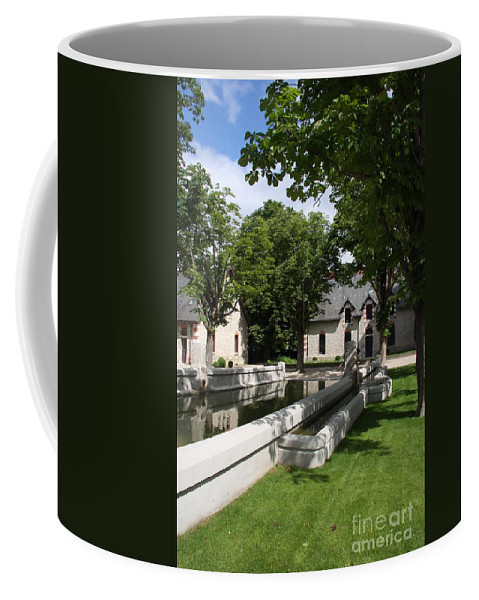 Water Coffee Mug featuring the photograph Basin In The Castle Yard by Christiane Schulze Art And Photography