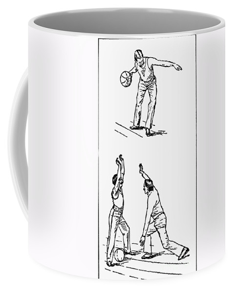 1893 Coffee Mug featuring the photograph Basketball, 1893 by Granger