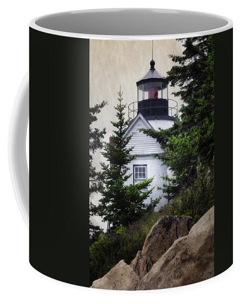 Joan Carroll Coffee Mug featuring the photograph Bass Harbor Head Light by Joan Carroll