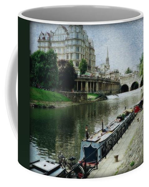 Pulteney Bridge Coffee Mug featuring the photograph Bath Canal by Marilyn Wilson