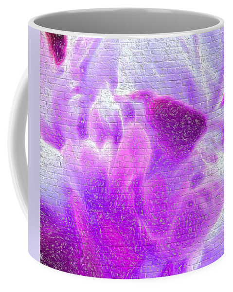Flowers Coffee Mug featuring the digital art Bathed In Purple by Cathy Anderson