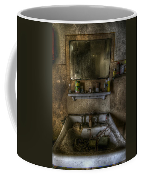 Bathroom Coffee Mug featuring the digital art Bathroom Sink by Nathan Wright