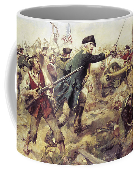 General John Stark Coffee Mug featuring the painting Battle Of Bennington by Frederick Coffay Yohn