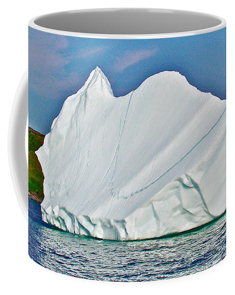 Batwing Iceberg In Saint Anthony Bay Coffee Mug featuring the photograph Batwing Iceberg In Saint Anthony Bay-newfoundland-canada by Ruth Hager