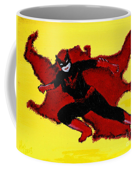 Movies Coffee Mug featuring the painting Batwoman by Alys Caviness-Gober