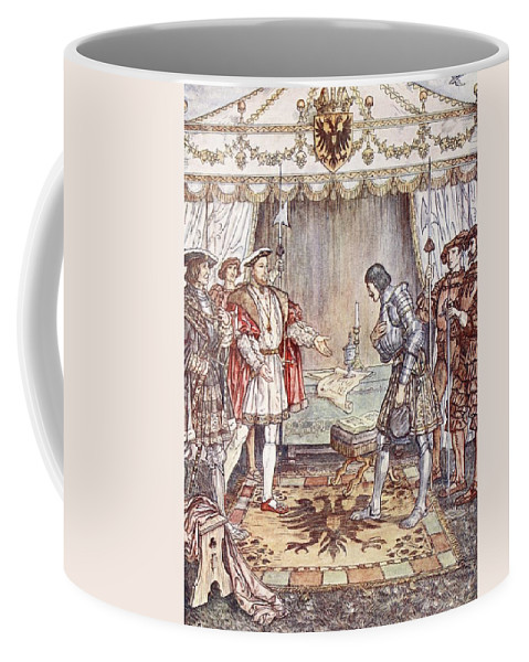 Royalty Coffee Mug featuring the drawing Bayard Presented To Henry Viii by Herbert Cole