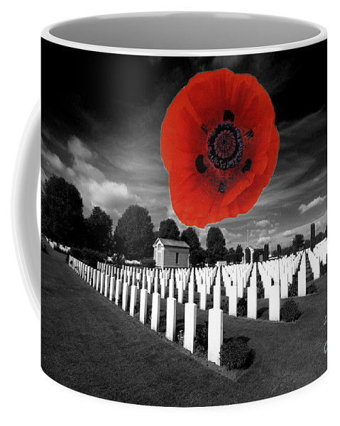 The War Cemetery At Bayeaux In Normandy Coffee Mug featuring the photograph Bayeaux Cemetry by Rob Hawkins