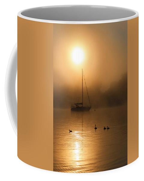 Bayside Marina Coffee Mug featuring the photograph Bayside Sunrise 1 by Lori Deiter