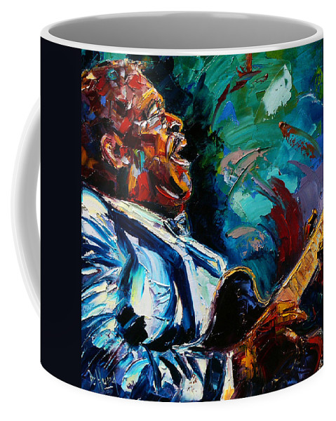 Musicians Coffee Mug featuring the painting Bb King by Debra Hurd